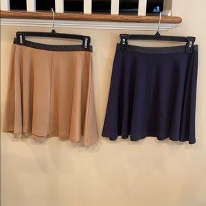 Forever 21 Beige & Navy Skirts Size Medium